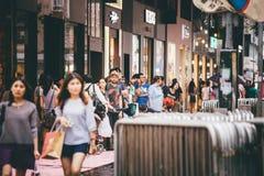 购物在铜锣湾在香港,中国 库存照片