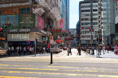 购物在香港 库存照片