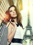 购物在巴黎 库存图片