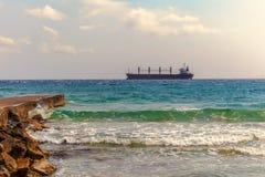 货物地中海船 库存图片