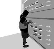 购物场面 免版税库存图片
