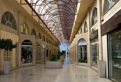 购物拱廊 免版税库存照片