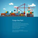 货物海港飞行物设计 免版税图库摄影