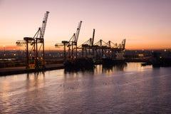 货物海港,卡萨布兰卡, Marocco 免版税库存照片