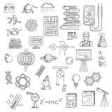 物理、化学和天文科学剪影 免版税图库摄影