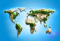 世界地图。物理向量例证- 图片: 40320953