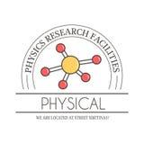 物理学校教育传染媒介例证 原子科学研究标签 摘要象分子标志元素 向量例证