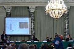 物理的朱棣文诺贝尔奖得奖者完全论文  库存照片