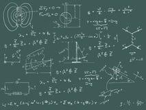 物理绘制和配方 皇族释放例证
