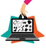 购物的在线概念 免版税库存照片