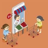购物的网上电子商务 免版税图库摄影