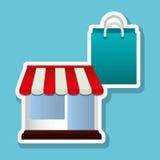 购物的网上设计,传染媒介例证,传染媒介例证 库存照片