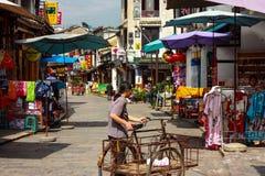 购物街道在阳朔 库存照片