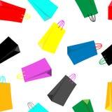 购物袋无缝的样式 皇族释放例证