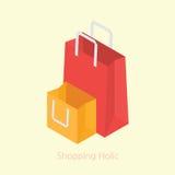 购物袋构思设计3d等量例证 皇族释放例证