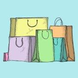 购物袋 向量例证