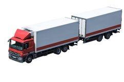 货物详细资料低部卡车 库存图片