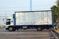 货物详细资料低部卡车 库存照片