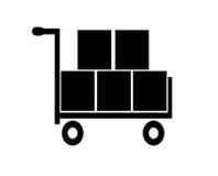 购物车传染媒介 库存例证