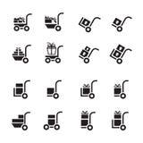 购物车和人传讯者集合 免版税图库摄影