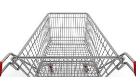 购物车空的购物 库存照片