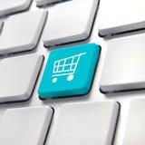 购物车计算机键盘 图库摄影