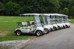 购物车重点高尔夫球第二方向盘 免版税库存图片