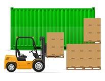 货物运输概念传染媒介例证 免版税库存图片