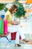 购物通信 免版税库存图片