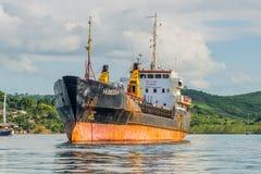 货物通用船 库存图片