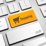 购物键盘 库存图片