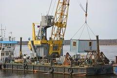 货物驳船 免版税库存照片