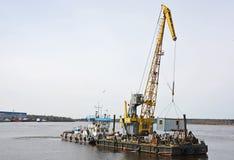 货物驳船 免版税图库摄影
