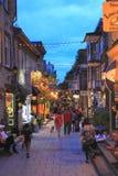 购物魁北克历史城区 图库摄影