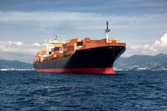 货物货物,集装箱船 库存照片