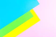 物质设计黄色,蓝色,桃红色和绿皮书背景 照片 免版税库存图片