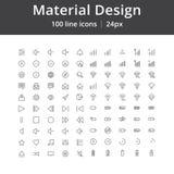 物质设计UI线象 免版税库存图片
