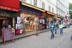 巴黎购物 库存照片
