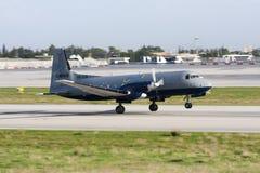 货物BAe 748离开 图库摄影