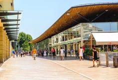 购物streetin普罗旺斯,法国 库存图片