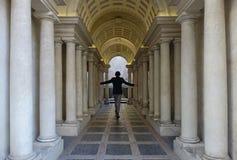 牵强的透视Borromini在罗马 免版税库存图片