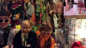牵线木偶商店在布拉格,捷克 影视素材