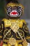 牵线木偶的(木偶)式样黑Hanuman 库存照片