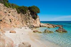 特乌拉达海滩 免版税库存照片