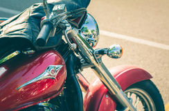 特伦托, 2017年7月22日:显示经典摩托车 摩托车分开细节 葡萄酒过滤器作用 库存图片
