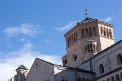 特伦托-意大利的大教堂 库存照片