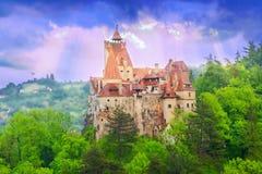 特兰西瓦尼亚德雷库拉城堡,麸皮的-罗马尼亚 免版税图库摄影