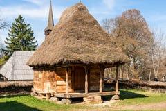 从特兰西瓦尼亚,罗马尼亚的传统农村房子 免版税库存图片