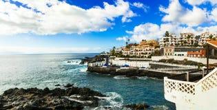 特内里费岛假日-摄影Puerto二圣地亚哥,加那利群岛 库存照片