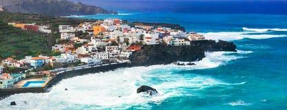 特内里费岛海岛-美丽的圣胡安de la兰布拉 免版税库存照片